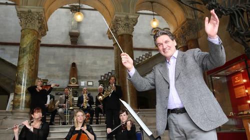 Arena presenter Seán Rocks with the RTÉ Concert Orchestra, who will perform on Culture Night
