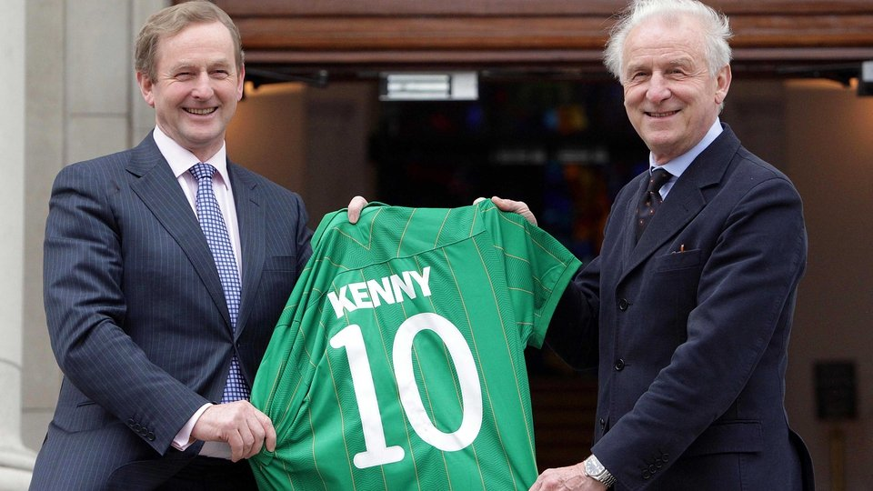 Friends in high places - Trapattoni was a hit with Taoiseach Enda Kenny when he went to Government buildings