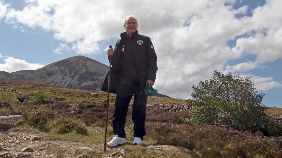 The Italian, whose birthday is on St Patrick's Day, takes in Croagh Patrick before Euro 2012 but his prayers went unanswered