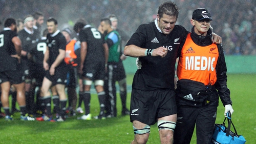 Richie McCaw misses out after suffering a knee injury against Argentina