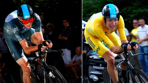 Wiggins (r) accused Froome going back on agreement
