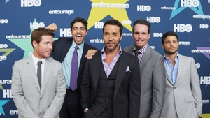 Entourage reunites Jeremy Piven (centre) with (l-r) Kevin Connoly,  Adrian Grenier, Kevin Dillon, Jerry Ferrara