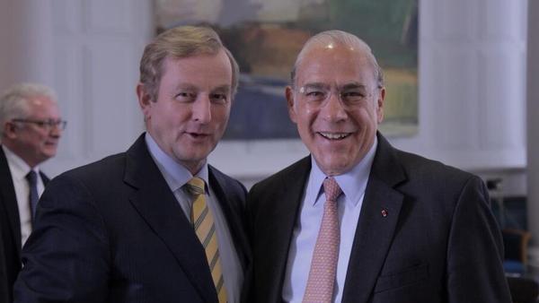 Taoiseach Enda Kenny met with OECD Secretary-General Dr Angel Gurría (photo MerrionStreet.ie)
