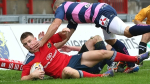 Andrew Conway signed deal in January to join Munster from Leinster for start of 2013/14 season