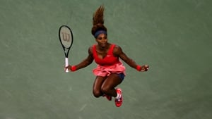 Serena Williams celebrates her victory over Victoria Azarenka in the final of the US Open at Flushing Meadows