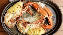 Baked Lobster with Mustard Cream