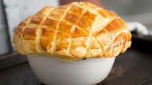 Creamy Chicken and Black Pudding Pie