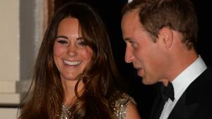 Duchess of Cambridge and Prince William last night