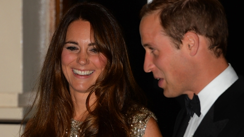 Duchess of Cambridge and Prince William last night