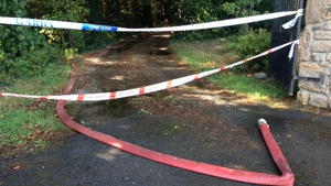 Emergency services were called to the house near Enniscorthy at around 12.30am to tackle the blaze
