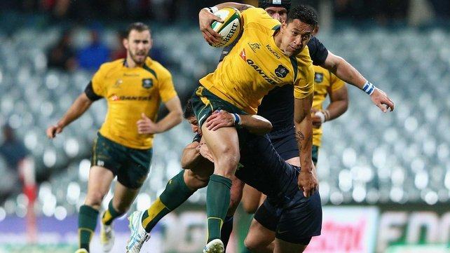 Israel Folau scored Australia's only try in a tight encounter against Argentina