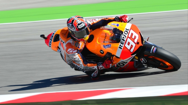 Marc Marquez set the lap record at one minute 32.915 seconds