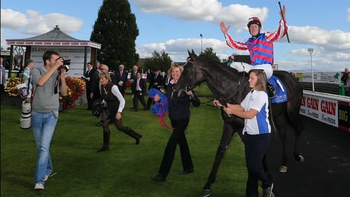 Johnny Murtagh and Belle De Crecy celebrate victory