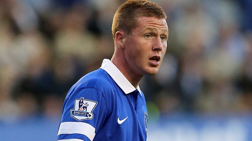 James McCarthy came on in the second half to make his Everton debut
