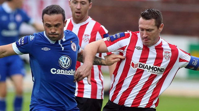 Defending chmpions Derry City put their title on the line against Sligo Rovers