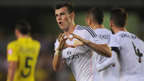 Bale struck in the 38th minute at the Madrigal to make it 1-1