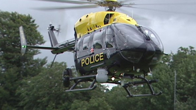 The PSNI helicopter was involved in the search (Pic: BBC)