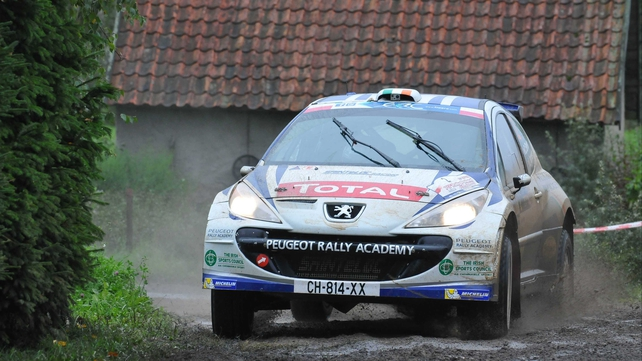 Craig Breen finished third at the ERC Rally Latvia