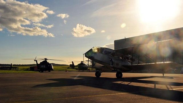 Planes readied at Baldonnell Airport this morning ahead of the event