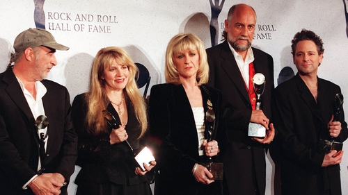 Back in the fold: McVie (centre) with Fleetwood Mac