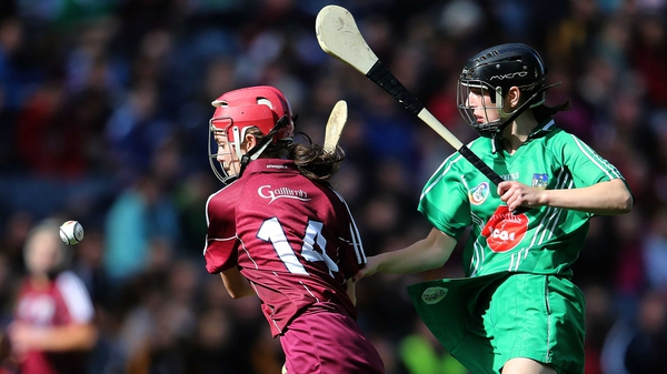 Galway's Orlaith McGrath and Judith Mulcahy of Limerick