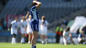 A dejected Sarah Ann Fitzgerald at the final whistle