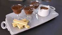 Chocolate Mousse with Salted Caramel Sauce and Shortbread Biscuits - Re-create Rachel Allen's mouth-watering dessert