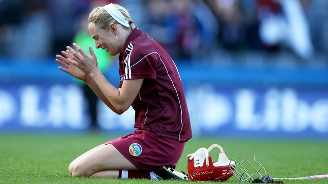 An emotional Therese Maher after Galway beat Kilkenny in the 2013 All-Ireland senior camogie final