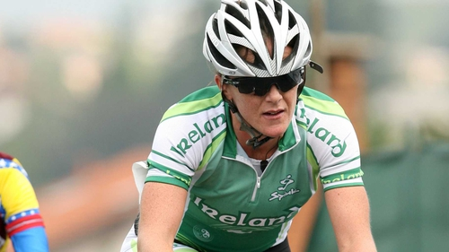 Olivia Dillon finished safely in the lead group at the finish in Dromoland