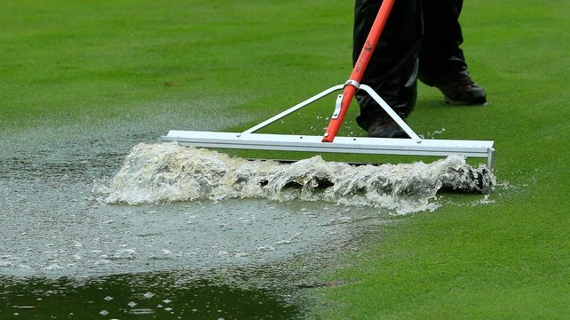 Rain called ahalt to the final round of the BMW Championship in Illinois