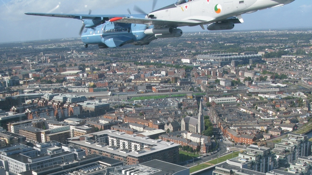 The planes flew as low as 250m over Dublin (Pic: Air Corps Photo Section)