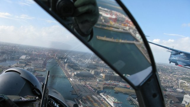 40,000 people followed the event via an online feed (Pic: Air Corps Photo Section)