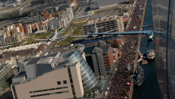 Huge crowds turned out for the event (Pic: Air Corps Photo Section)