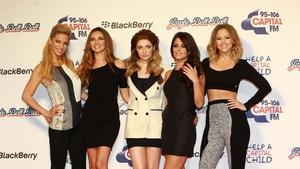 Sarah Harding with her Girls Aloud bandmates Nadine Coyle, Nicola Roberts, Cheryl Tweedy and Kimberley Walsh