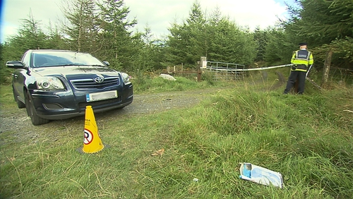 The remains were found by a woman out walking on Friday evening