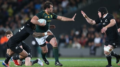 Bismarck du Plessis was shown two yellow cards