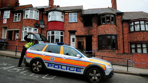 Seven men have been arrested over the fire in Wood Hill on 13 September