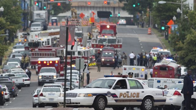 The shooting left 13 people dead and about a dozen injured at the Navy Yard in Washington DC