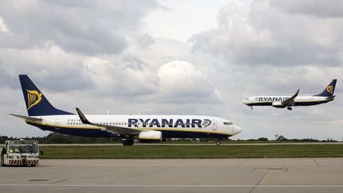 Ryanair has cancelled a number of flights today between Dublin Airport and the French cities of Nantes, Nice, and Paris-Beauvais