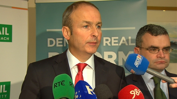 Micheál Martin says the proposed €3.1bn Budget adjustment is 'excessive'