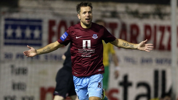 Declan O'Brien put Drogheda on the way to a place in the last four of the FAI Ford Cup