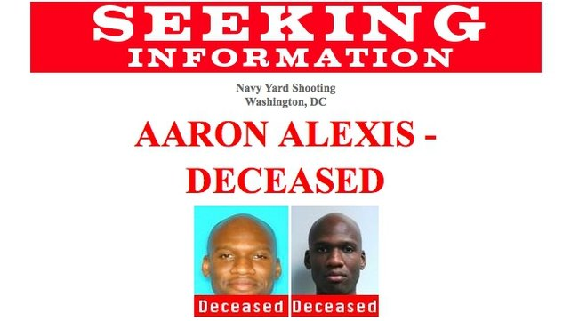 The FBI has appealed for information on suspected gunman, Aaron Alexis
