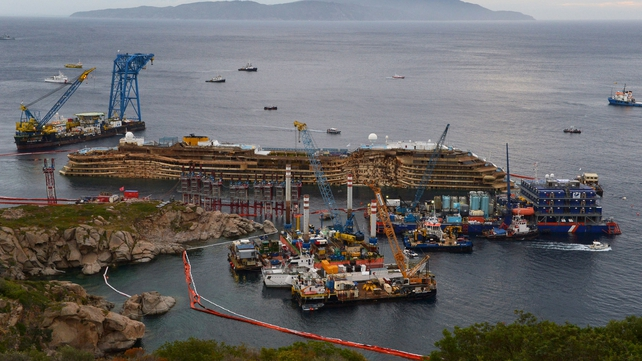 The operation to raise the Costa Concordia cost over €600m