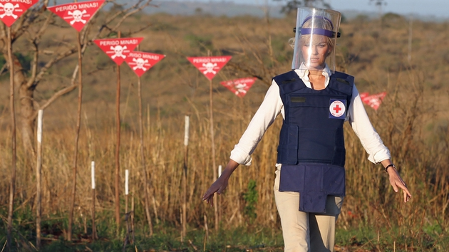 The film also touches on Diana's charity work, particularly with landmine organisations