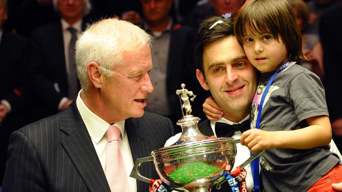 Barry Hearn and Ronnie O'Sullivan at last year's World snooker final