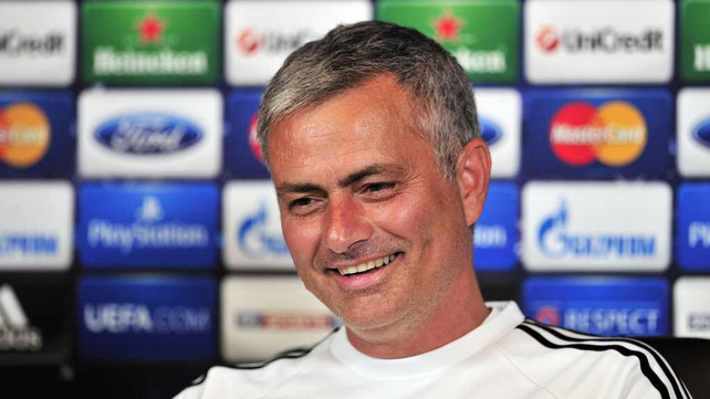 Jose Mourinho was in playful mood at his pre-match briefing