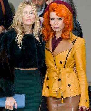 Sienna Miller and Paloma Faith at Burberry