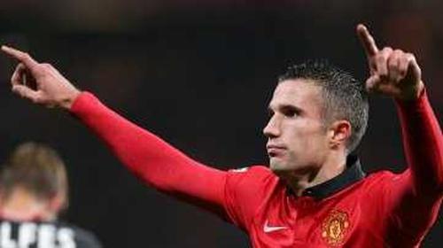 Robin Van Persie was on target for United once again