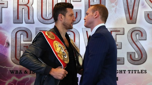 Carl Froch and George Groves prior to their first bout