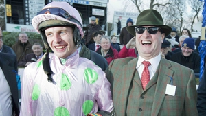 Paul Townend and owner Rich Ricci share a laugh after winning the Racing Post Novice Steeplechase with Arvika Ligeonniere at Leopardstown last year